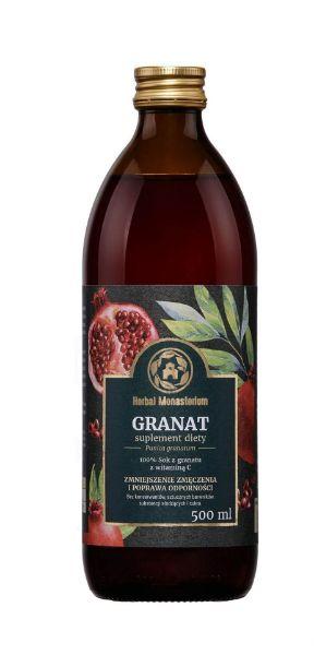 Obrazek Herbal Monasterium Sok Granat 500 ml