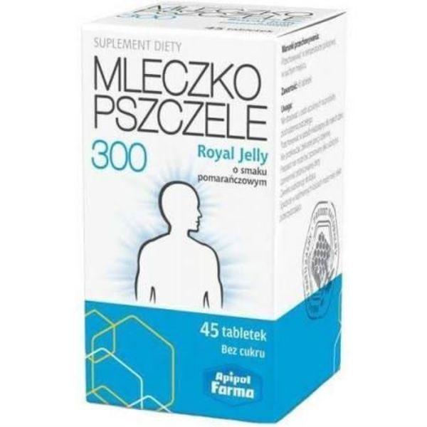 Obrazek Apipol Farma Mleczko pszczele 300 45 tabl.