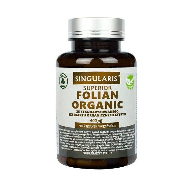 Obrazek Singularis Folian Organic 90 kaps.