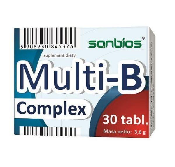 Obrazek Sanbios Multi B-Complex 30tabl.