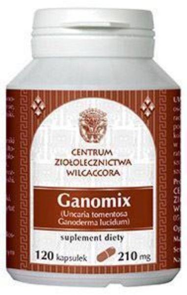 Obrazek Wilcaccora Ganomix 120 kaps.
