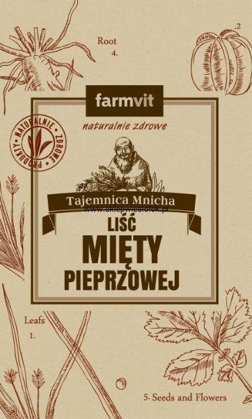 Obrazek Farmvit Liść mięty pieprzowej 50g