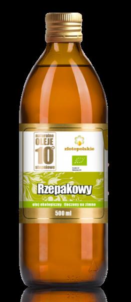 Obrazek Złoto Polskie Olej rzepakowy ekologiczny 500ml