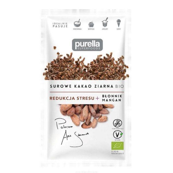 Obrazek Purella Surowe ziarno kakao BIO 21g