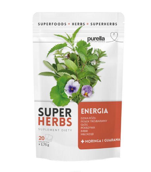 Obrazek Purella SuperHerbs herbata na ENERGIĘ 20 sasz.