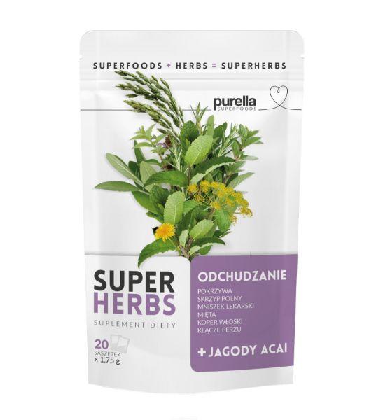 Obrazek Purella SuperHerbs herbata na ODCHUDZANIE 20 sasz.