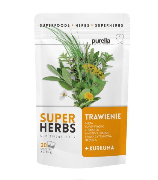 Obrazek Purella SuperHerbs herbata na TRAWIENIE 20 sasz.