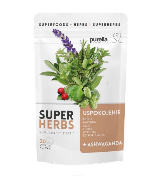 Obrazek Purella SuperHerbs herbata na USPOKOJENIE 20 sasz.