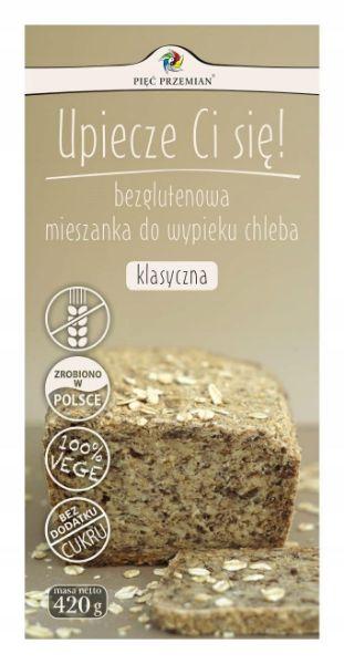 Obrazek Pięć Przemian mieszanka na chleb klasyczny 420g