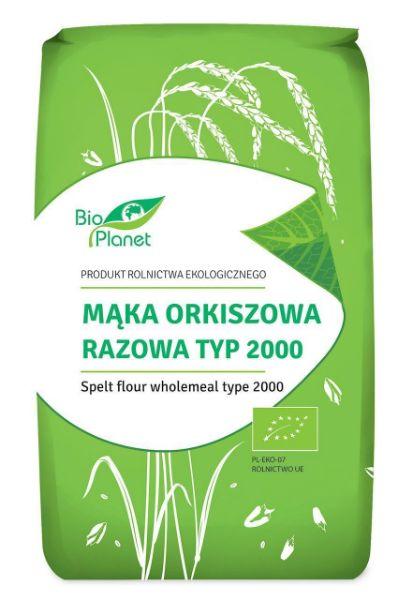 Obrazek BioPlanet Mąka orkiszowa BIO 500g