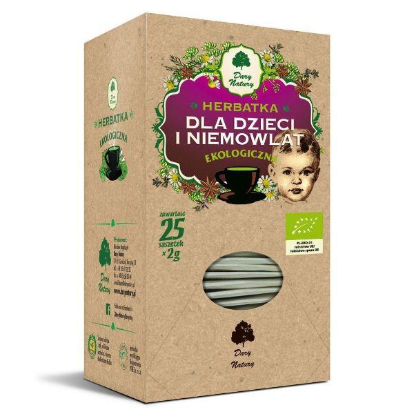 Obrazek Dary Natury Herbata dla Dzieci i niemowląt 25x2g