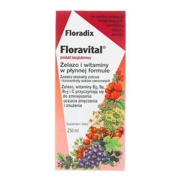 Obrazek Floradix Żelazo i witaminy  250ml