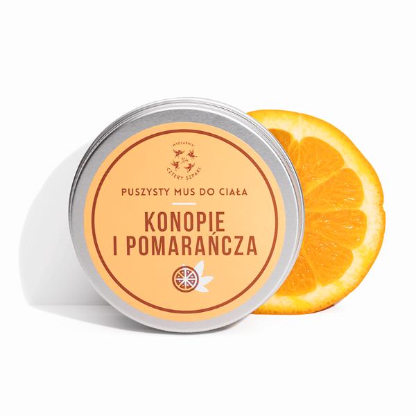 Obrazek Cztery Szpaki Mus do ciała Konopie i Pomarańcza