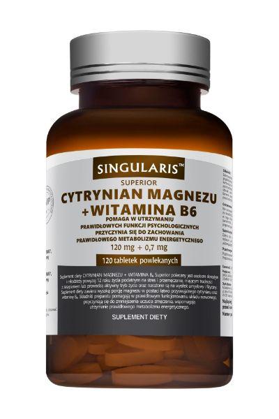 Obrazek Singularis Cytrynian magnezu+witamina B6 120 tabl.