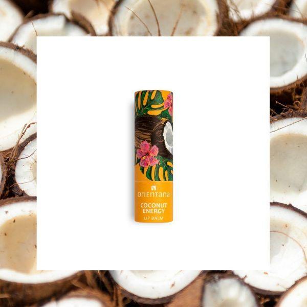 Obrazek Orientana Balsam do ust Coconut Energy