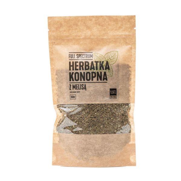 Obrazek Full Spectrum Herbatka konopna z melisą 2% CBD 50g