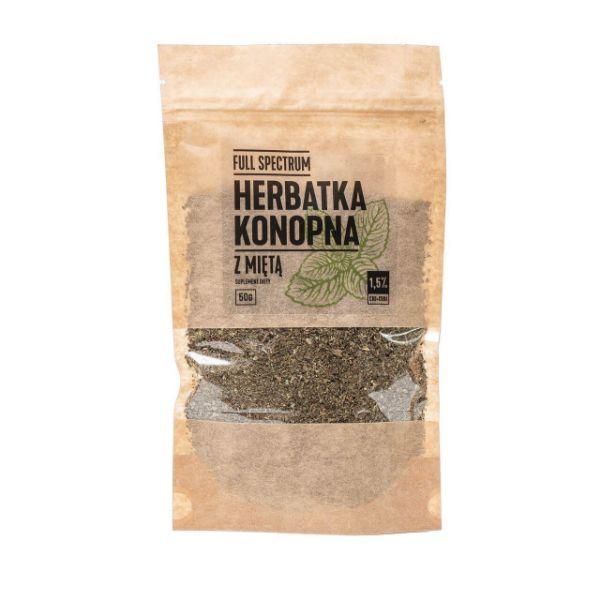Obrazek Full Spectrum Herbatka konopna z miętą 2 % CBD 50g