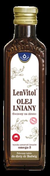 Obrazek Oleofarm LevVitol Olej lniany 250ml