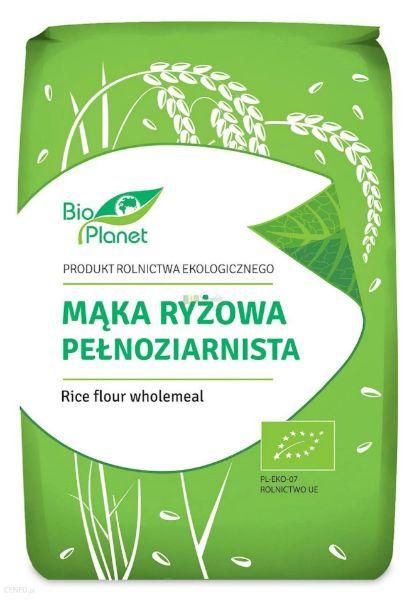 Obrazek BioPlanet Mąka ryżowa pełnoziarnista 1kg
