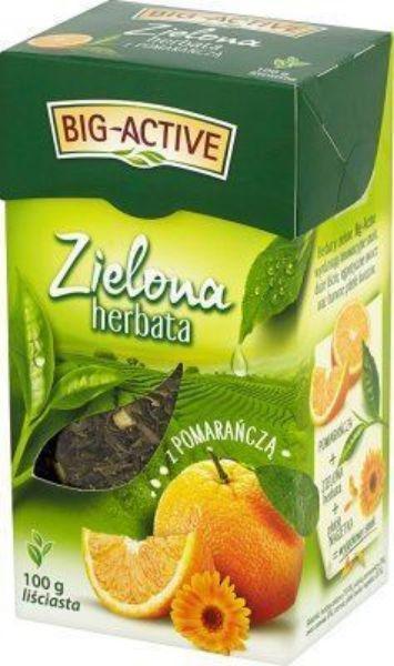 Obrazek Bio-Active Zielona herbata z pomarańczą liściasta