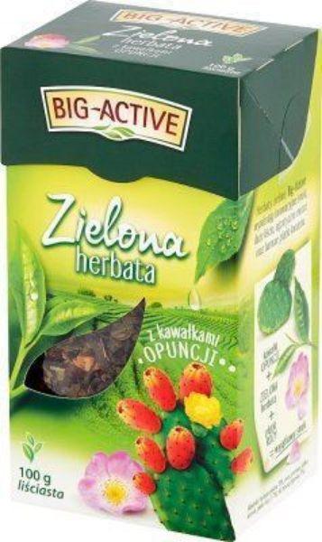 Obrazek Bio-Active Zielona herbata z opuncją liściasta