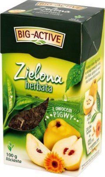 Obrazek Bio-Active Zielona herbata z pigwą liściasta